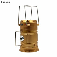 Portable Lanterns Solar Camping Light Rechargeable Built In Lithium Battery Hand Lamp Outdoor Camping Lantern Tent
