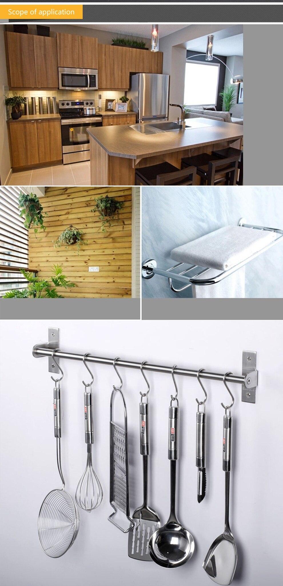 10 Pack Stainless Steel S Hooks Hanging Rail Pot Pan Hanger Kitchen DIY Room