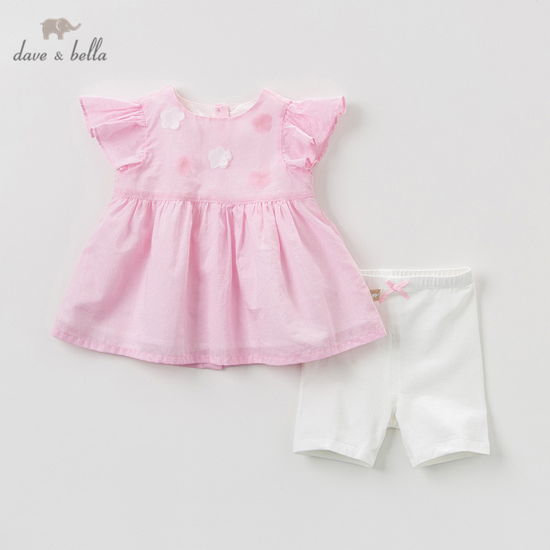 DBQ9662 Dave bella summer baby girl clothing sets cute floral children suits infant high quality clothes girls bow outfit DBQ9662 Dave bella summer baby girl clothing sets cute floral children suits infant high quality clothes girls bow outfit