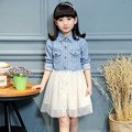 Wear s for girls in the spring and autumn winter cotton stripe dress new children princess dress factory direct