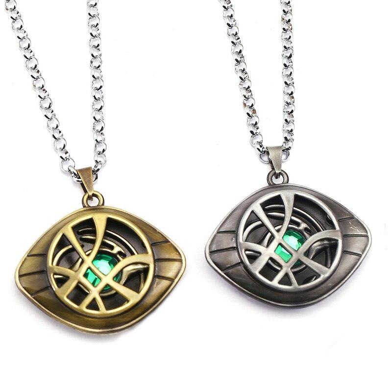 Marvel Superhero Figure Doctor Strange Eye Of Agomotto Necklace Toy Dr Agamotto Key Pendant Model Toys Gift