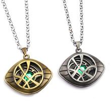 лучшая цена Marvel Superhero Figure Doctor Strange Eye Of Agomotto Necklace Toy Dr Strange Eye Of Agamotto Key Pendant Model Toys Gift