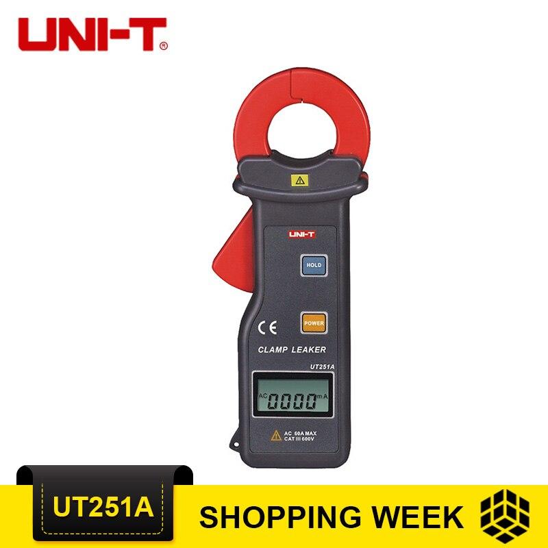 UNI-T UT251A Высокая чувствительность ток утечки клещи UT251A Амперметр Multitester 10000 отсчетов RS-232