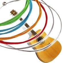 Развлекательных струны товаров акустическая гитара радуга многоцветный сплава нержавеющей стали из