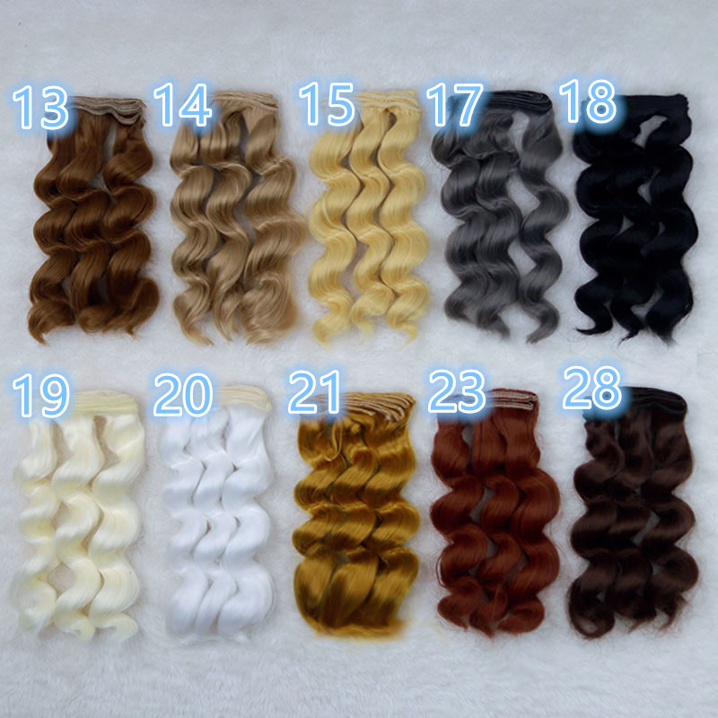 1/3 1/4 1/6 BJD doll 15cm*100cm wigs for BJD Ye Luoli SD DIY doll wigs High-temperature wire fiber Hair 3 curly wave hair wigs
