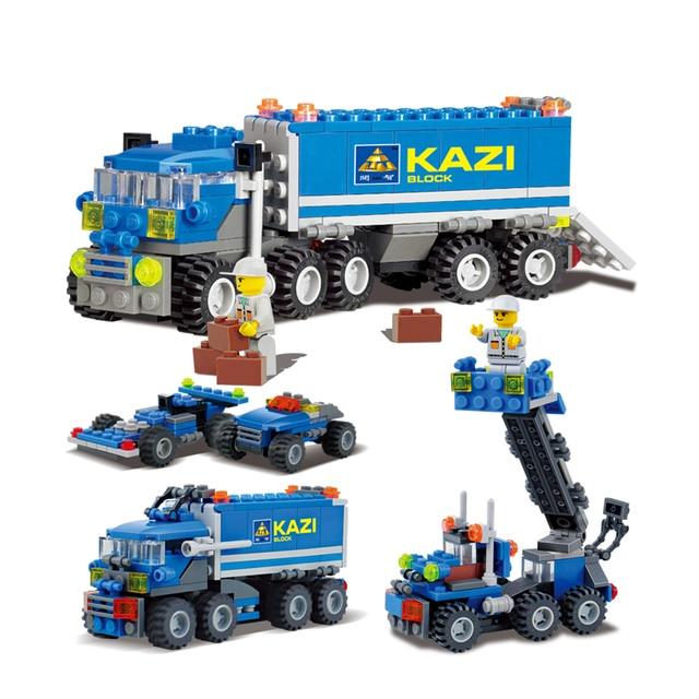 Car Model DIY blocks truck toys building blocks sets educational toys best friend for children compatible with big brand blocks