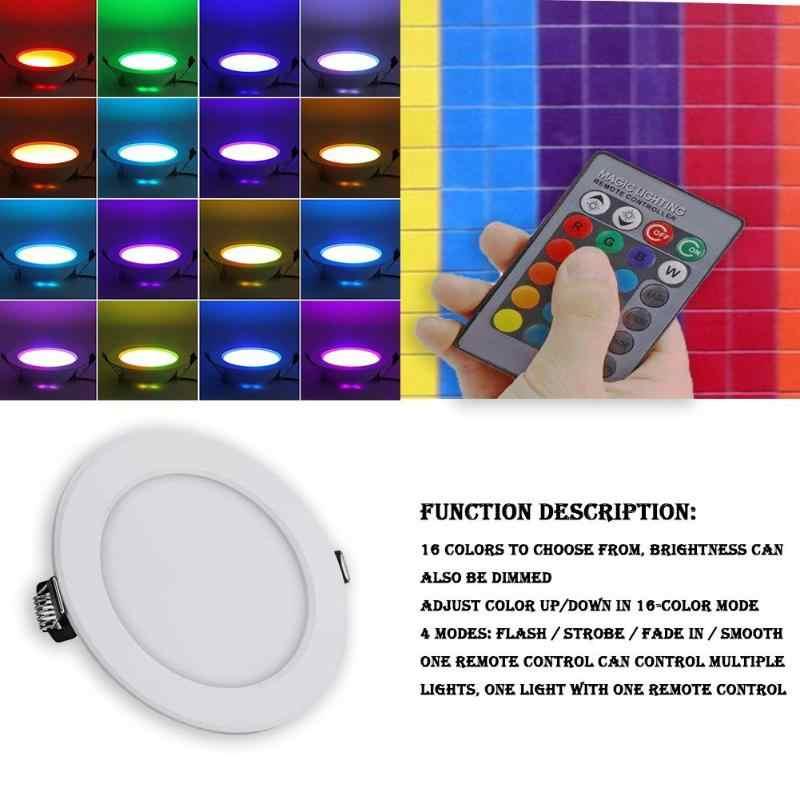 ĐÈN LED Ốp Trần Bảng Điều Khiển Ánh Sáng RGB Đèn Tường Trong Nhà Chiếu Sáng Gia Đình W/Điều Khiển từ xa