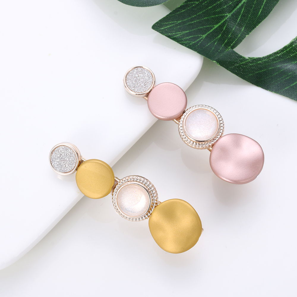 1pc New Colorful Beads Barrettes Korea Japan Fashion Acetate Hairpins Hair Clips Wedding Party Geometric Hair Styling Tool
