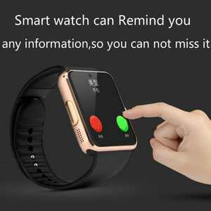 Image 4 - Bluetooth Smart Uhr Großen bildschirm touch fitness tracker Uhr SIM karte Call nachricht Erinnerung Schrittzähler Für Android tragen touch