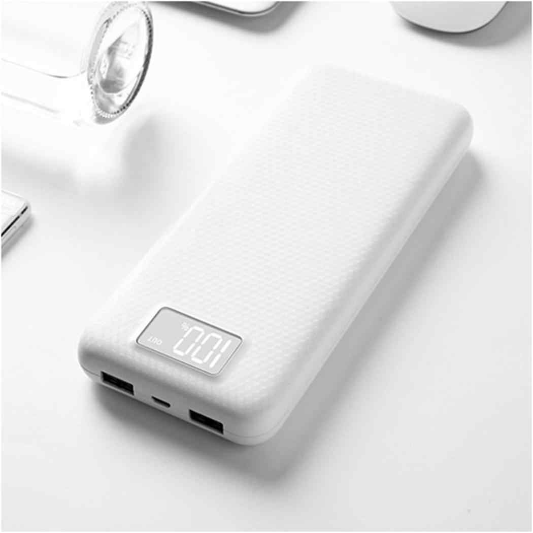 LCD Digital Display Power Bank Shell Dual USB Output Mobile Power Case Module DIY Kit External Battery Charger Box Housing