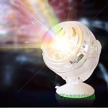 New Aquarium Amphibious Submersible LED Spotlight colorful Lamp Waterproof Light Decoration background For Fish tank Ponds Pool