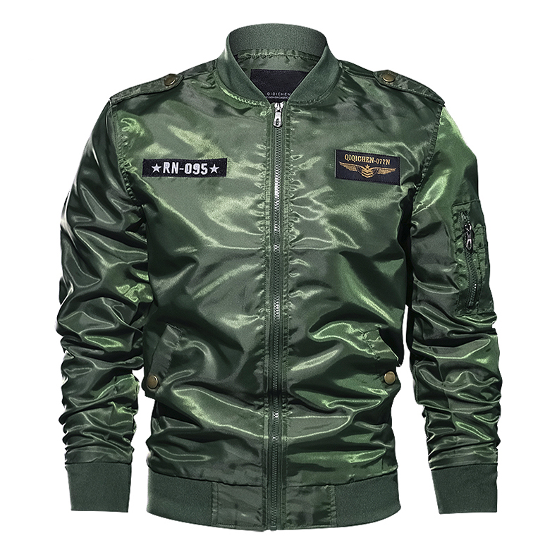 TACVASEN Autumn Men Bomber Jacket Thin Army Pilot Jacket Men's Military Air Force Flight Jacket Coat Casual Clothing Plus Size