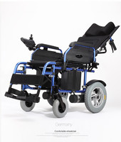Lying Down Folding Light Electric Wheelchair With Lithium Battery