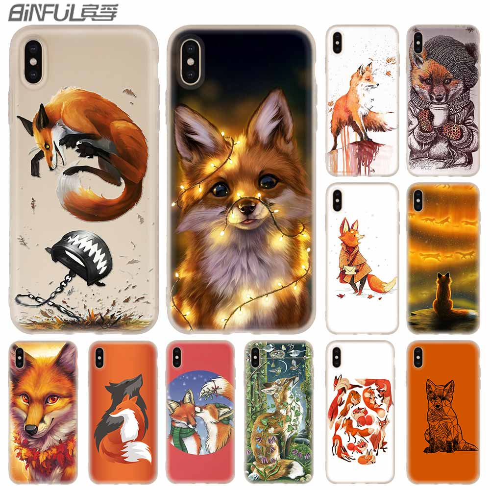 Phone <font><b>Cases</b></font> Silicone soft Cover for <font><b>iPhone</b></font> 11 Pro X XS Max XR 6 6S 7 8 Plus 5 <font><b>4S</b></font> SE Anime <font><b>funny</b></font> foxs lovely cute image