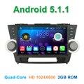 10.1 дюймов Quad core Android 5.1.1 Автомобильный DVD Плеер с СЕНСОРНЫМ Toyota Highlander 2011 2012 2013 2014 с Радио BT WiFi Зеркало-link
