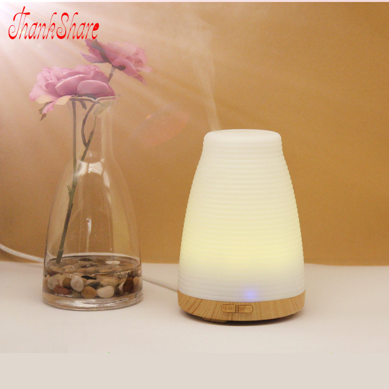 THANKSHARE 100ML Diffuser Colorful Mini Humidifier Air Electric Aromatherapy Essential Oil Aroma Diffuser For Home Office 8pcs new usb mini aroma diffuser air humidifier flower perfume electric aromatherapy essential oil diffuser for home office
