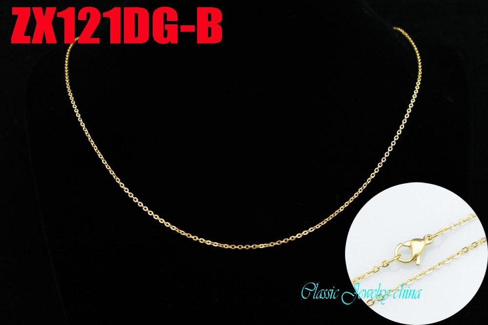 Ոսկե գույնի չժանգոտվող պողպատե վզնոց - Նորաձև զարդեր - Լուսանկար 2