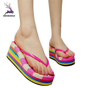 610dc851501e6 Slippers Casual Summer Flip Flops Sandals Beach Shoes Woman