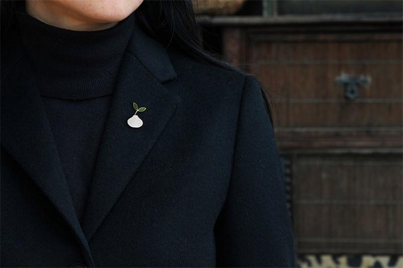 pedra designer artesanal jóias finas primavera bonito no ar feminino broches pino