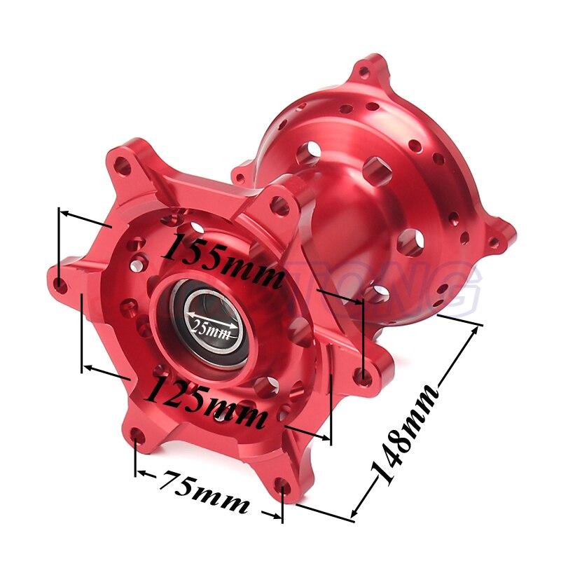 Motorcycle CNC Machined Front And Rear Wheel Hub For HONDA CR 125 250 CRF250R CRF450R CRF450X CRF250X CRF 250 450 R X 00 01-14