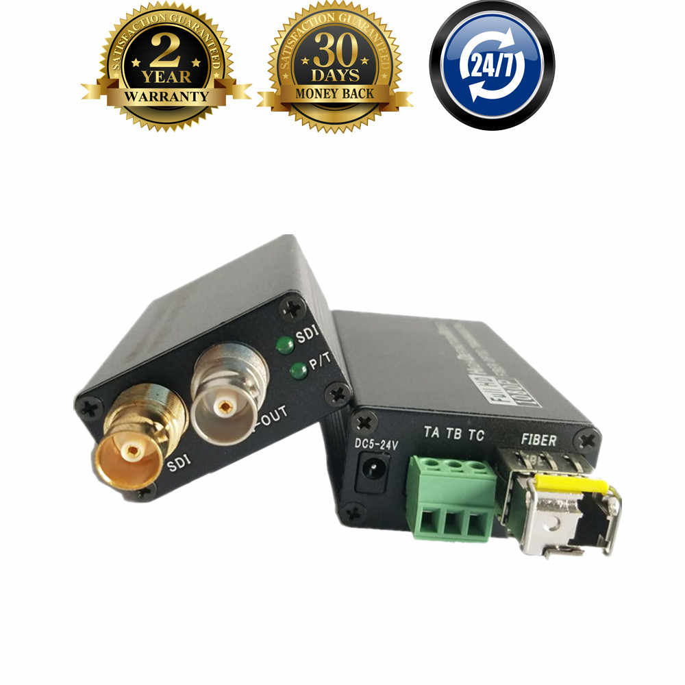 Baru 20 KM HD SDI Serat UNTUK BNC Koaksial Converter Fibra Optik Converter 1080P HD-SDI Serat Optik Transmitter dengan switch Kuantitas