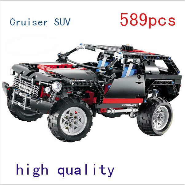 Decool 3341 Transport Cruiser SUV 589 pcs Racing Modèle De Voiture Building Block Sets Briques pour L'éducation de BRICOLAGE enfants bricolage Jouets de construction ensembles