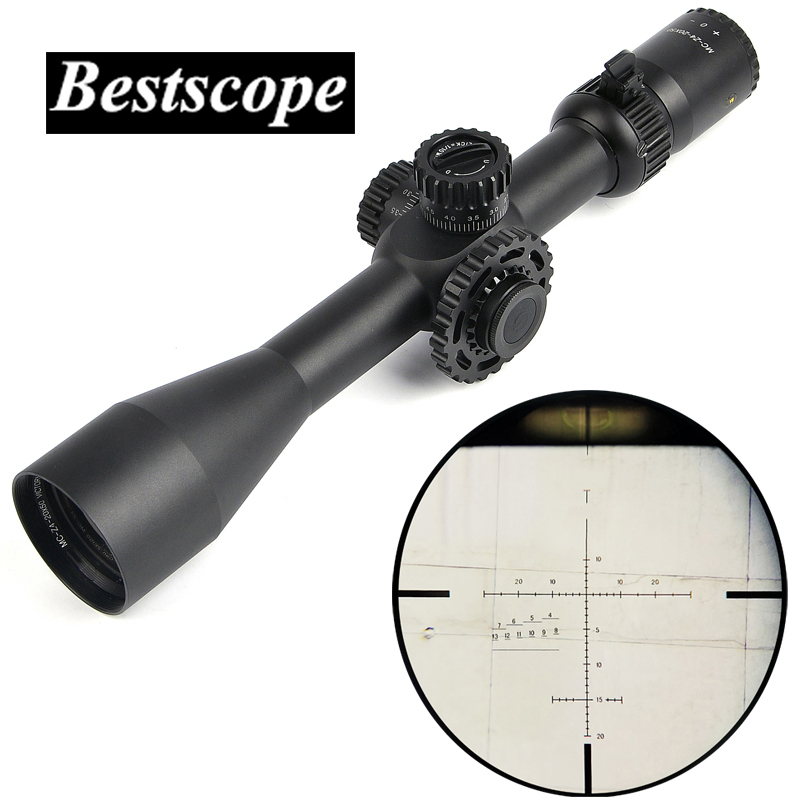 CS V8 4 20x50 SFIR Optics Rifle Scope Red Illuminated Hunting Scopes Tactical Riflescope For Air