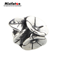 Genuine 925 Sterling Silver Morning Glory Charms Beads Fits European Brand Troll 3 0mm Bracelet Jewelry