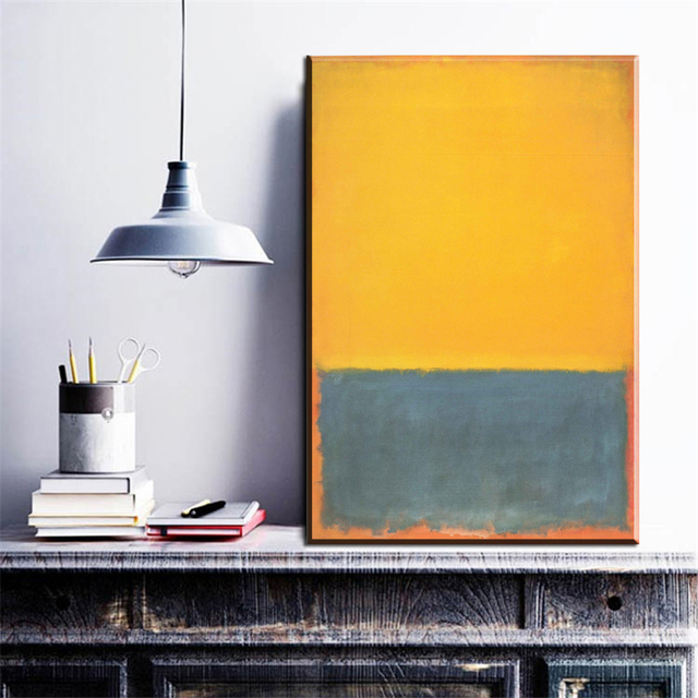 aliexpress : zz177 moderne abstrakte leinwand mark rothko gelb, Wohnzimmer