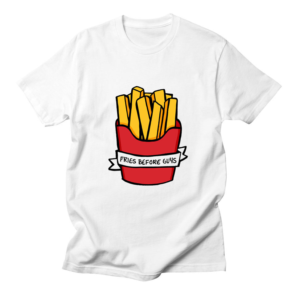 Motivated Fries Before Guys Women Tshirt Plus Size Fashion Funny High Quality Comfortable Kawaii Sweet Casual Tops Short Sleeve T-shirt