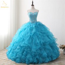 Bealegantom New Sweetheart Blue Quinceanera Dresses 2019 Ball Gown With Beaded Jacket Sweet 16 Dress Vestidos De 15 Anos QA1310