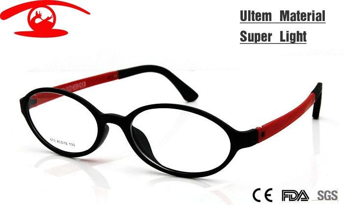 (10 unids lote) los niños al por mayor Gafas ultem memoria flexible oval  Niñas Niños niño Marcos de anteojos claro moda Gafas c37452a661