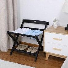 Мебель для гостиничного номера твердой древесины багажная стойка отель дома складной пол полка для пластикового стеллажа