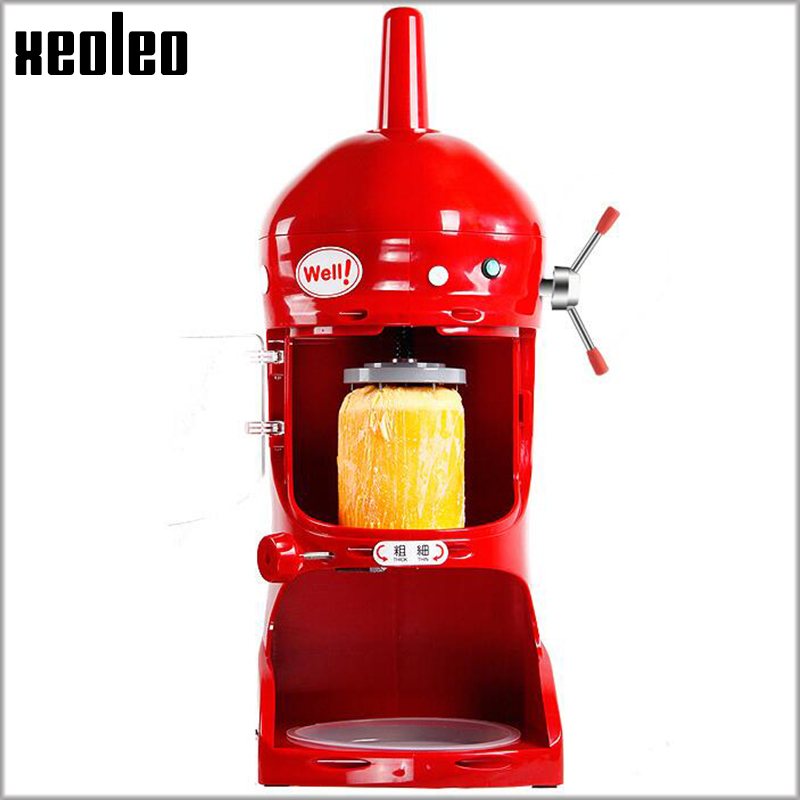 Xeoleo Dolphin Type Ice shave machine Commercial Ice shaver 350W Ice planer 110V/220V white/Red/Yellow Smoothie maker 90kgs/h