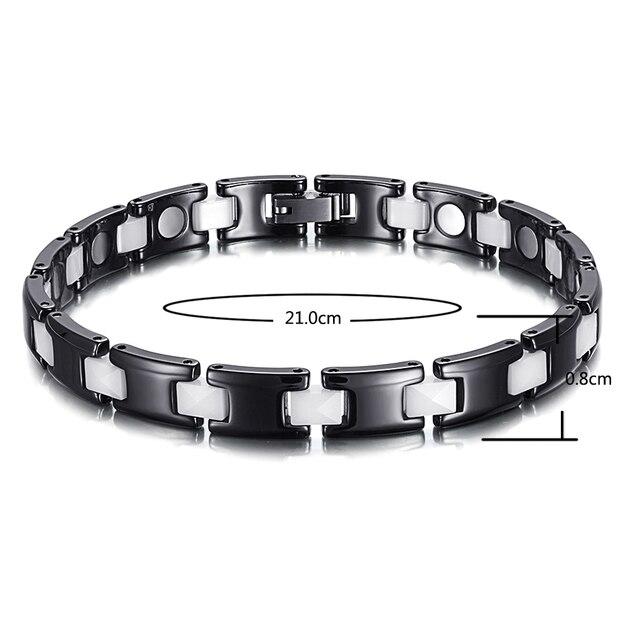 Купить welmag трендовые черно белые керамические браслеты и магнитные