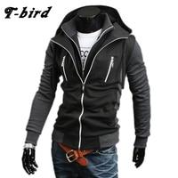T Bird 2018 Hoodie Men Cardigan Sweatshirt Hip Hop Mens Brand Fake Two Pieces Hoodies Winter