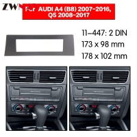 Car DVD Player frame For AUDI A4 2007 2016 Q5 2008 2017 1DIN Auto Radio Multimedia NAVI fascia