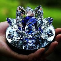 Étincelant et Translucide Saint Pur Cristal Lotus Support de Parfum De Voiture Noble Violet/Saphir Bleu/rose de Haute Qualité De Voiture décoration