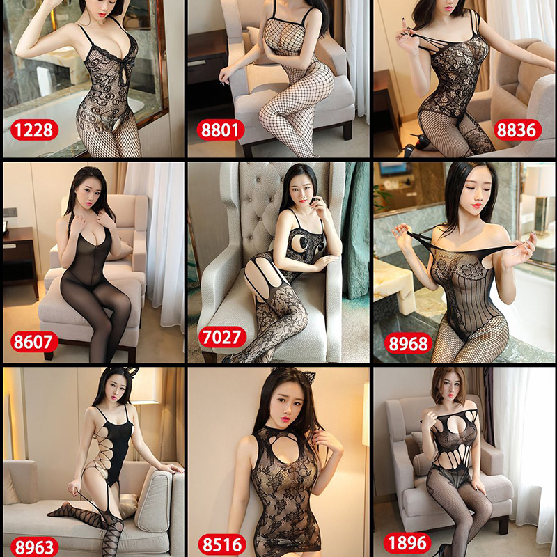 VDOGRIR 18 Style Sexy Underwear Women's Lingerie Hot Erotic Body Suit Open Crotch Elasticity Mesh Women Teddies Bodysuits