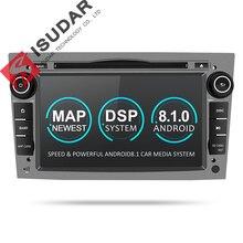 Isudar coche reproductor Multimedia GPS Android 8,1 2 Din DVD Automotivo para OPEL/ASTRA/Zafira/Combo/ corsa/Antara/Vivaro FM Radio DSP