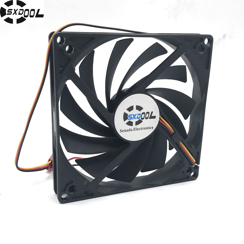 SXDOOL 100mm, 10cm fan, Single fan, Ultra-Thin, Washable, super mute, for power supply, for computer Case cooler desktop computer power supply god 700m game power rated at 550w 12cm fan mute stable module wide voltage