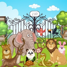 Laeacco Baby Animal Zoo Safari Party Newborn Photographic Backgrounds Customized Photography Backdrops For Photo Studio