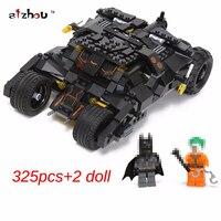 325pcs New Comics Super Heroes Batman Series The Tumbler Car Model Building Blocks Classic Compatible Legoed