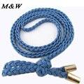 2017 Fashion Women Belts Braided Beaded Tassels Belt Elegant Designer Belts Thin Waist Rope Cinturones Cintos Femininos
