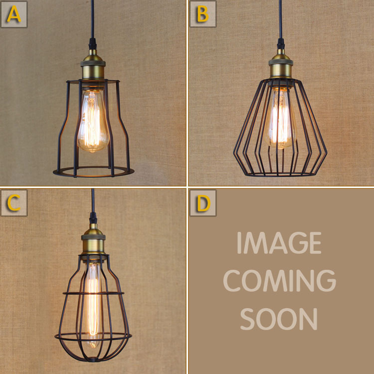Nordic American Rural Industrial Vintage Pendant Light Personality Loft Retro Iron Restaurant Bar Cafe Lamp Free Shipping