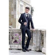 wedding tuxedo shiny custom made suits 3 piece stain slim fit groom wedding prom suit 2017
