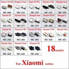 ChengHaoRan 18models Micro USB Jack Connector Socket for Xiaomi 2 M2 M2S Hongmi 3 Note 3S Note4 M4 Redmi M5 5S Plus MAX