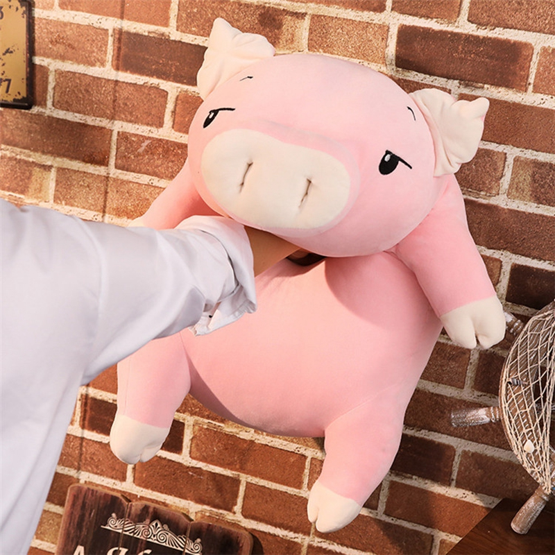 kawaii cartoon pig plush toy doll big stufefed fat pink pigs dolls sleeping pillow for children girls gift 43inch 110cm DY50445 (5)