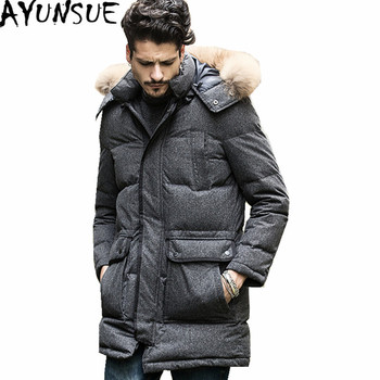 AYUNSUE Exquisite Parkas Hombre Invierno 2020 Winter Male Coat White Duck Down Jacket Men Hooded Coats Black Mens Jackets WXF169