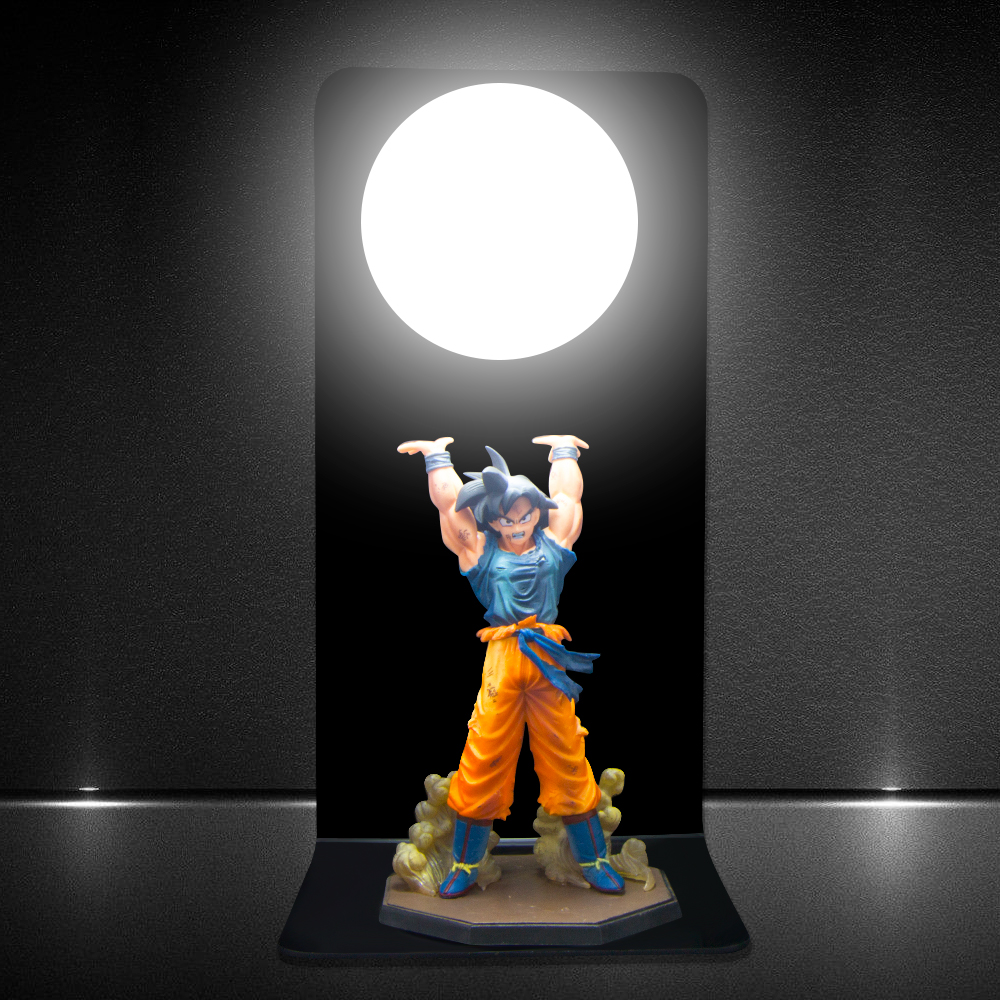 Dragon Ball Son Goku Spirit Bomb Table Lamp Led Night
